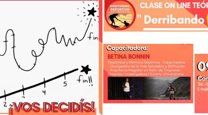 «DERRIBANDO EXCUSAS», LA NUEVA CAPACITACIÓN DE BETINA BONNIN