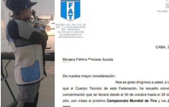 TIRO: MICAELA ACOSTA DISFRUTA DE UN GRAN MOMENTO