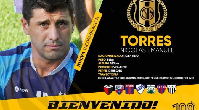 NICOLÁS TORRES DEJÓ DEPRO Y JUGARÁ EN MADRYN